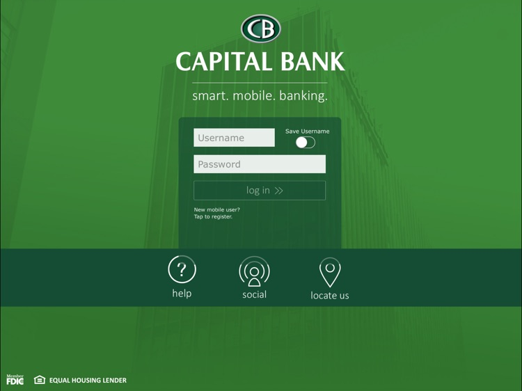 Capital Bank Corporation for iPad screenshot-0