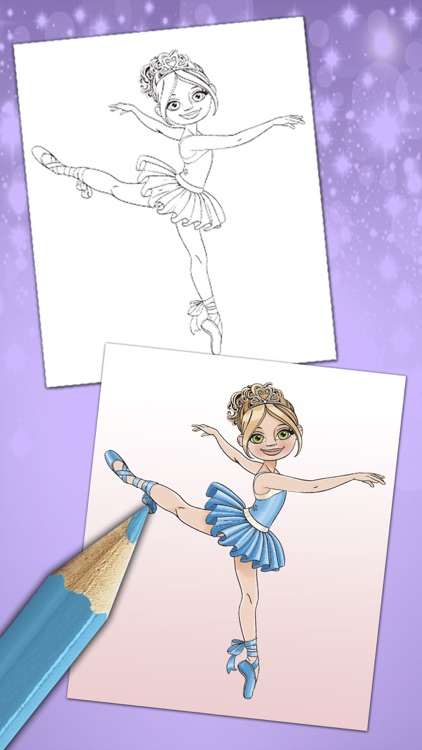 Magical ballerina coloring book pages game Pro screenshot-3