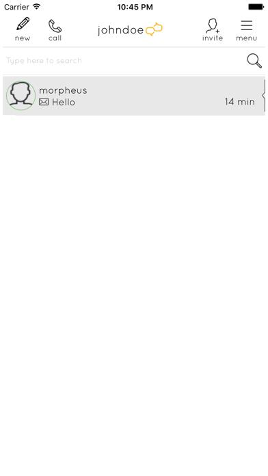 Screen Shot Clear Messenger 0