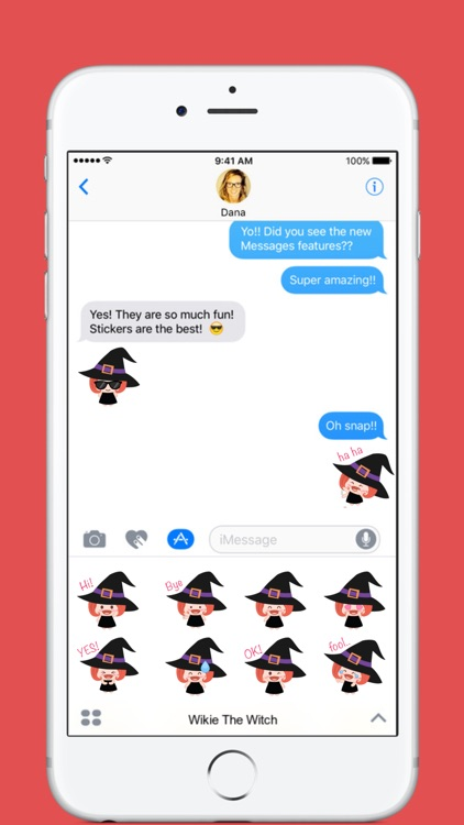 Wikie The Witch stickers by Linh for iMessage