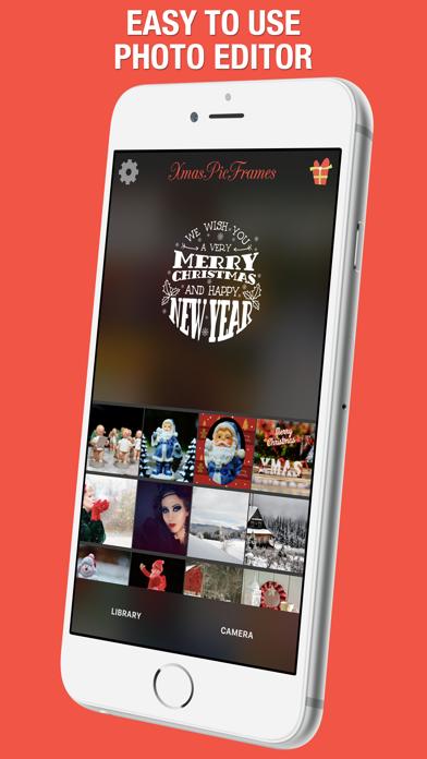 XmasPicFrames – Christmas & New Year Photo Frames screenshot one
