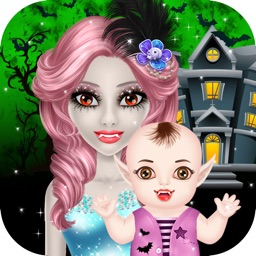 Halloween Mommy & Newborn Baby - Kids Game