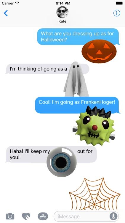 HedgeHoger Heads Halloween Stickers screenshot-3