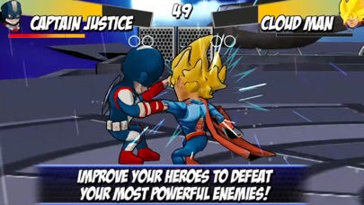 Superheroes Shadow Battle Screenshot on iOS