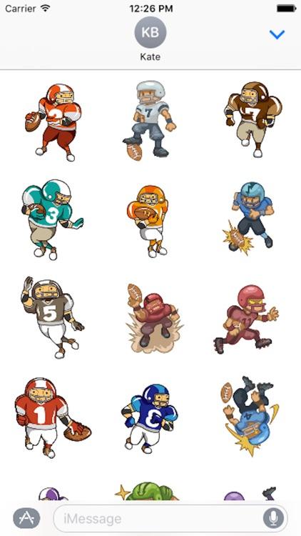 Cartoon Football Sticker - Emoji