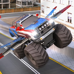 Off Road 4x4 Flying Monster Truck Real Racing