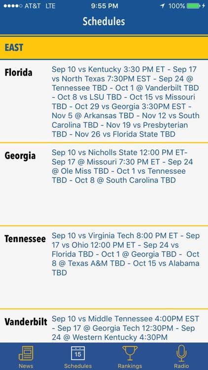 SEC GameDay - Radio, Rankings, Scores & Schedules screenshot-4