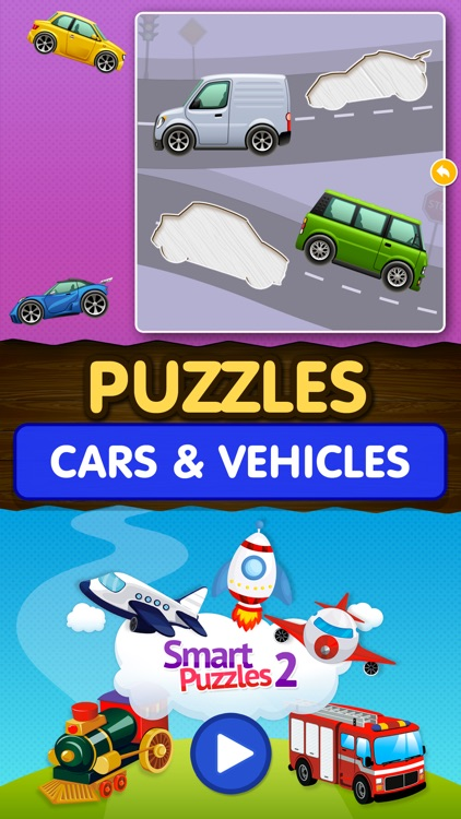 Kids Car Games: Toddlers Boys Learning puzzle Free