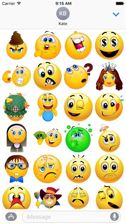 HD Emoji Stickers 2 screenshot-4
