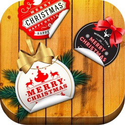 Merry Christmas Wishes - Photo Art Camera Stickers