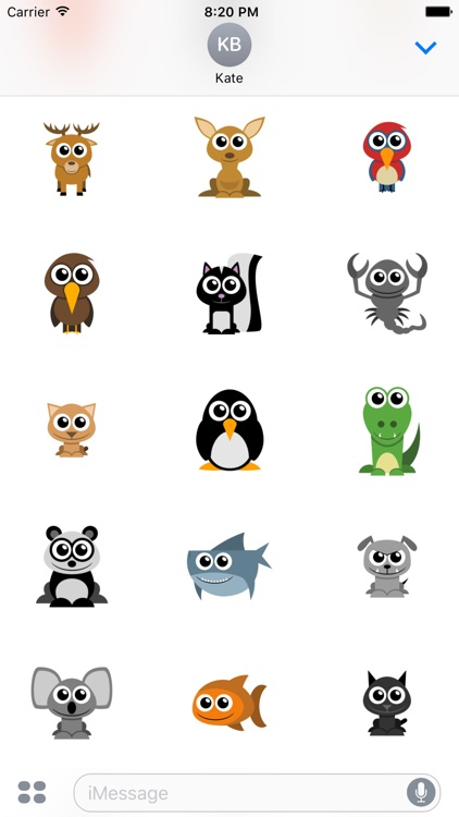 Adorable Animal Stickers screenshot-3