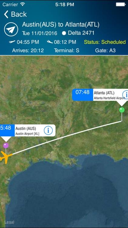 Austin Airport Pro (AUS) + Flight Tracker screenshot-3