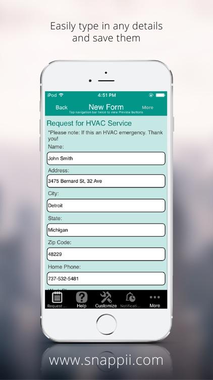 HVAC Service Request