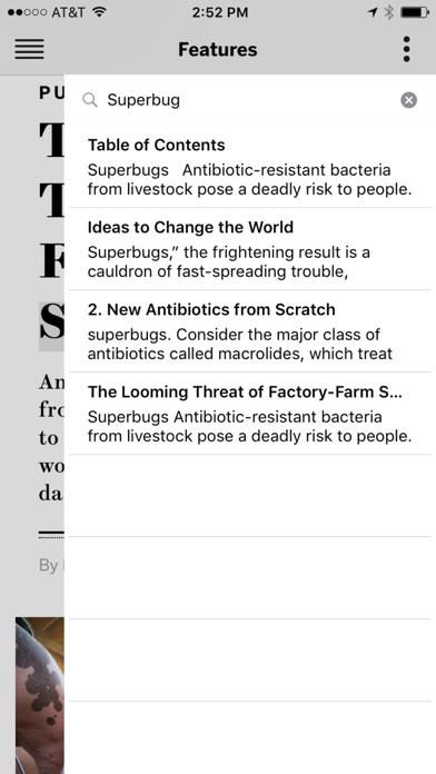 Scientific American Screenshot on iOS