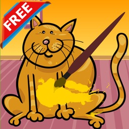 Cat Coloring Book Play Educational Toddler Games