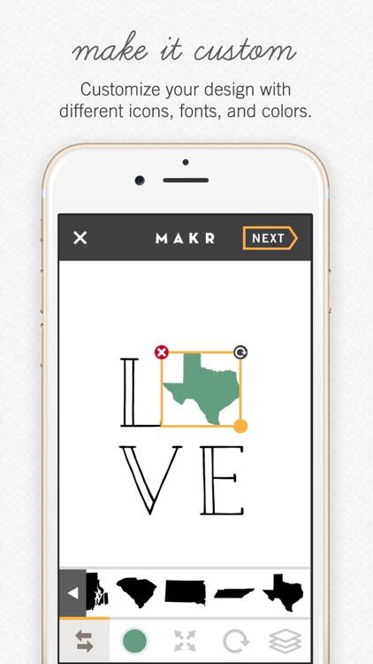 Makr: Logo Design, Wedding Invites & Custom Shirts app image