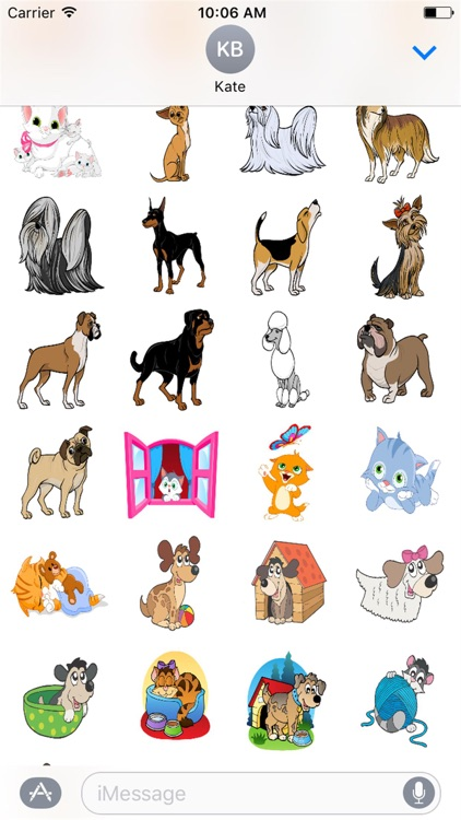 Cute Kitty and Puppy Stickers screenshot-4