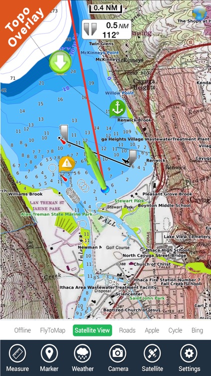 Iowa lakes - fishing gps nautical charts offline