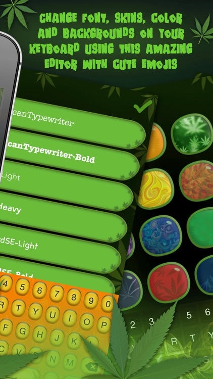 Weed Keyboards Pro – Fresh Cannabis Themes & Skins