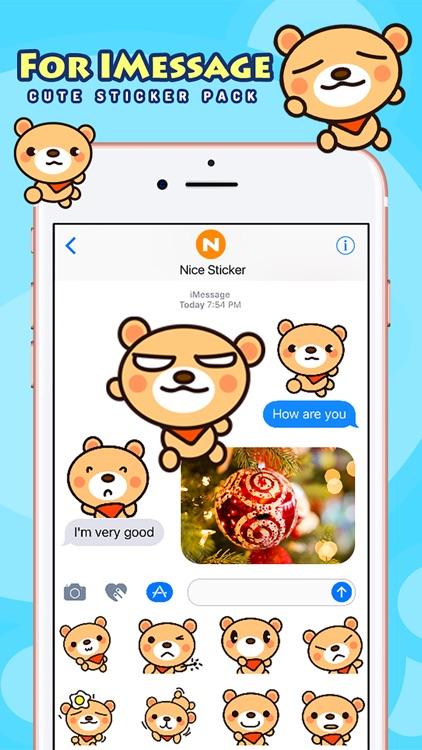 Fly Bear - Cute Stickers by NICE Sticker screenshot-3
