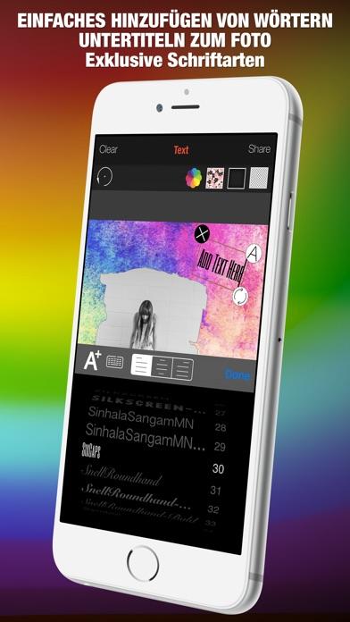 Shape Over Pic Fortgeschrittener text und bildbearbeitung - Hinzufügen auflage silhouette, symbole und bilderrahmen über bildScreenshot von 5