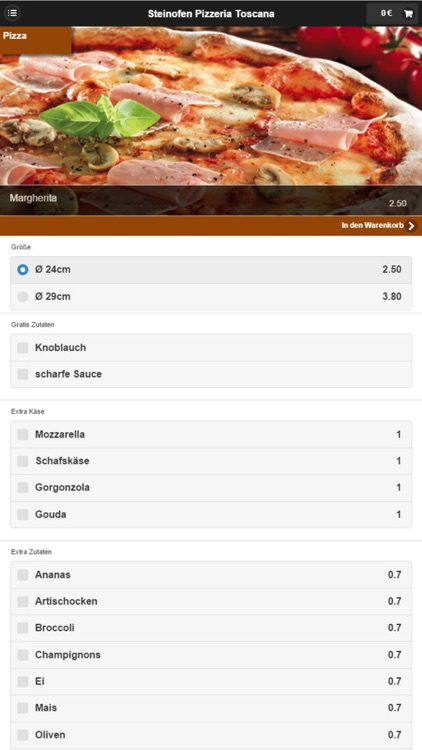 Pizzeria Toscana Langenfeld screenshot-2