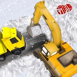 Snow Rescue Excavator 3D - City Crane Driver