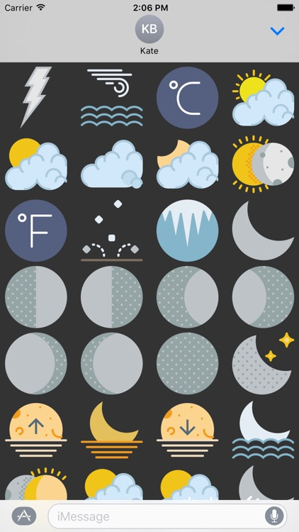 Weather Stickers Pack App for iMessage Chat Emojis