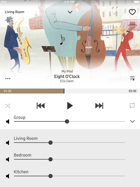 Wireless Audio : Multiroom for iPad
