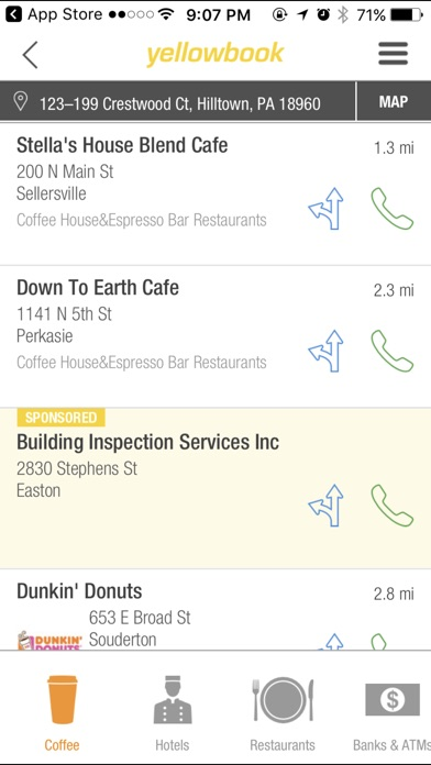 Yellow Pages Business Search App review screenshots