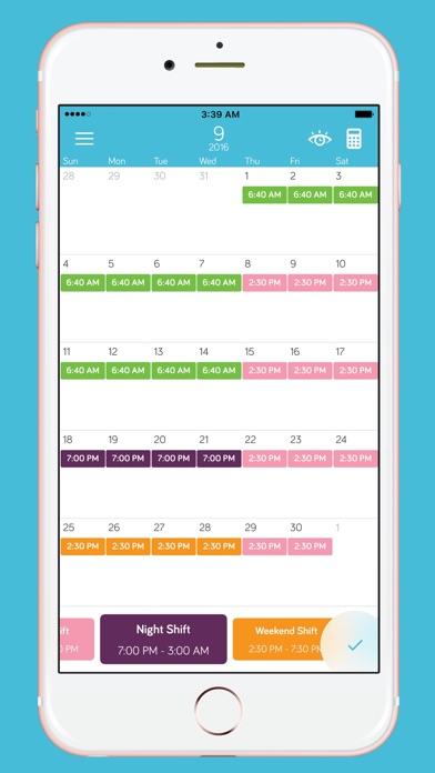 PayDay, Elegant Shift Calendar