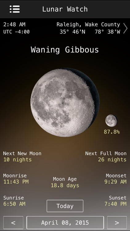 Lunar Watch moon phase calendar screenshot-3