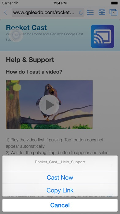 download Rocket Video Cast | Chromecast apps 3