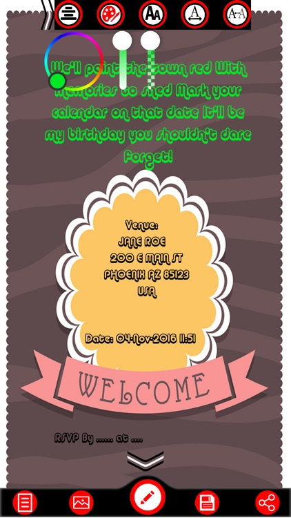 Birthday Invitation Card Maker screenshot-2
