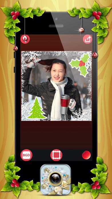 download Marcos de Fotos de Navidad con Pegatinas Navideñas apps 1