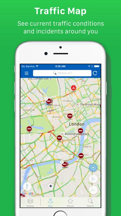 INRIX Traffic Screenshot