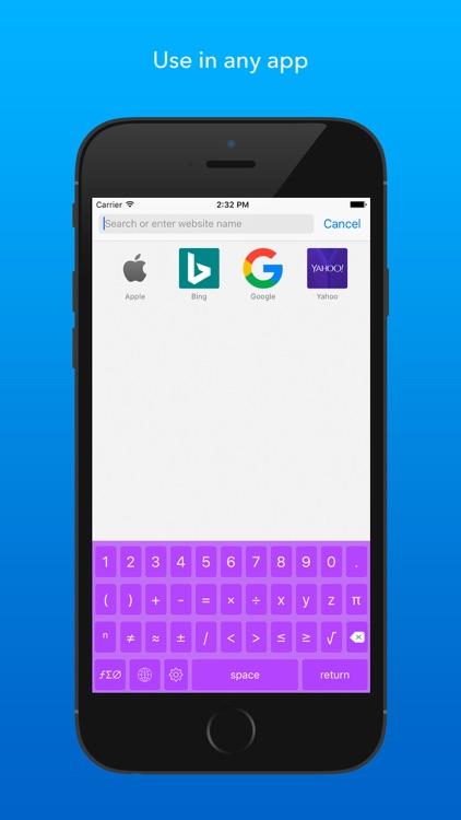 Numboard Premium – Algebra Keyboard for Math screenshot-4