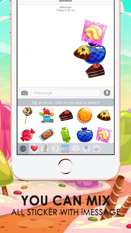 Candy Emoji Stickers Keyboard Themes ChatStick