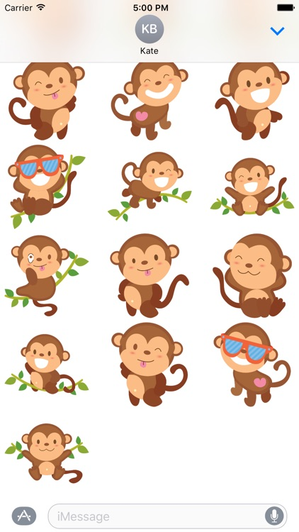 Sticker Silly Monkey for iMessage