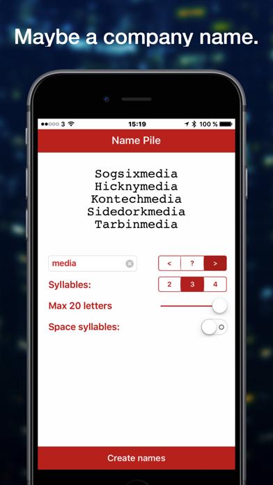 Name Pile Word Generator screenshot one