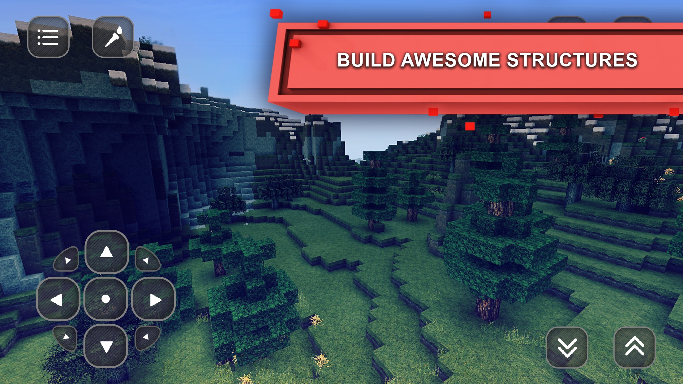 Block Craft World: Luna Exploration & Cube Build Screenshot