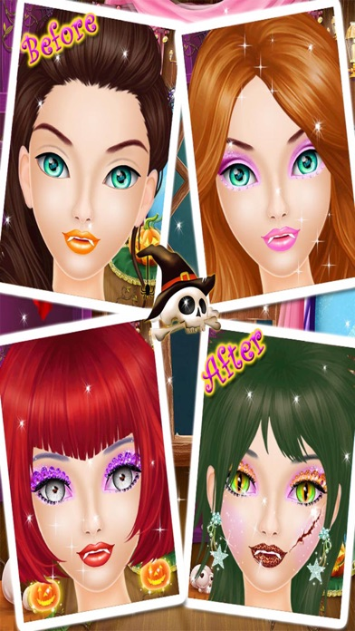 Halloween Makeup Salon - Kids game for girls screenshot three