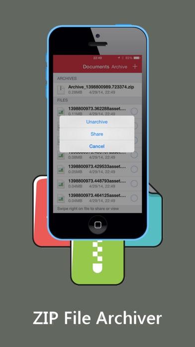 ZIP ZIPの解凍ダウンロードしArchiverおよびツールのスクリーンショット2