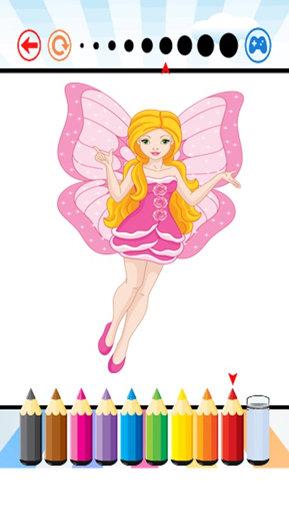 Fairy Art Coloring Book - for Kids screenshot-3