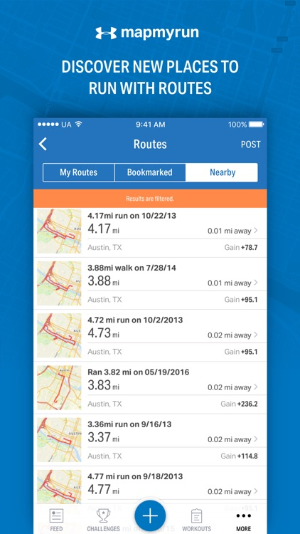 Map My Run - GPS Running & Workout Tracker app image