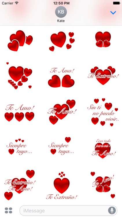 Te Amo Stickers screenshot-2