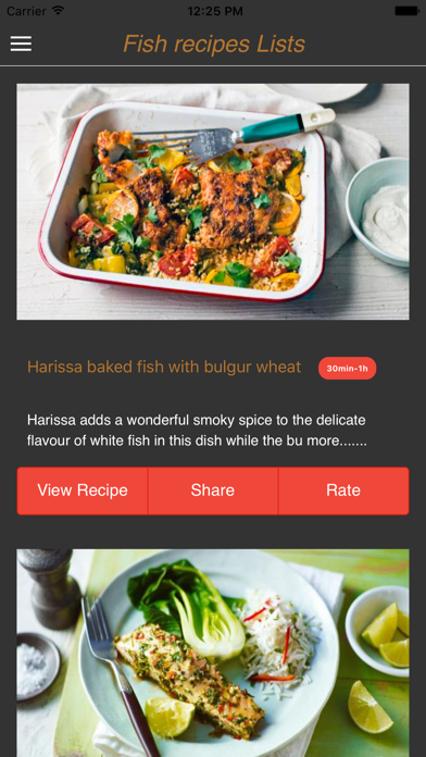 Healthy fish recipes screenshot one