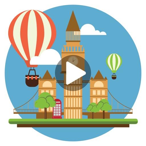 Hueliday: World Travel Animated Stickers