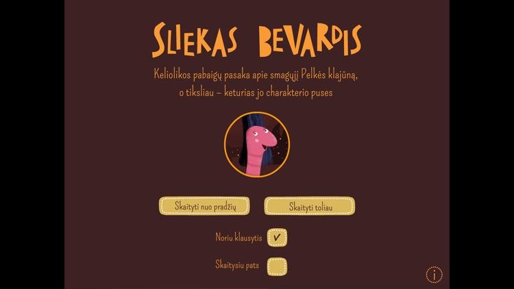 SLIEKAS BEVARDIS: lietuviška interaktyvi pasaka screenshot-4