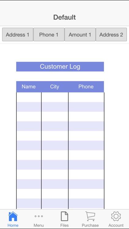 Customer Log